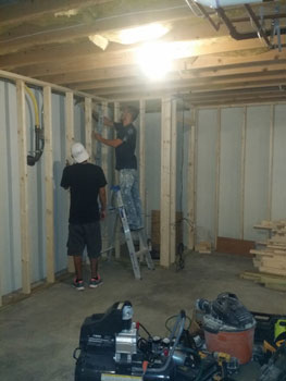 basement remodel project MD
