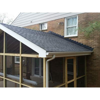 Roof line new porch MD